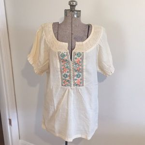 Tops - Embroidered Tunic Top